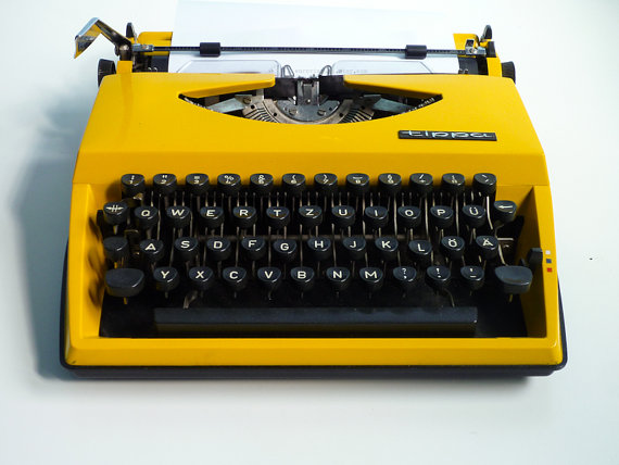 yellow typewriter
